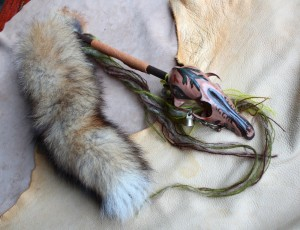 Fox skull rattle by Lupa. From http://etsy.me/1i6ot0T